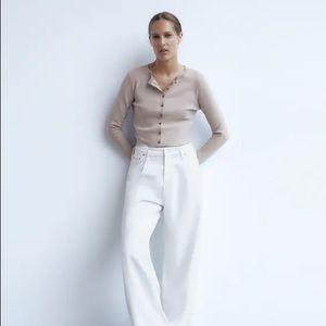 Zara Knit Cropped Cardigan